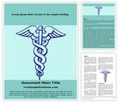 Free Medical Caduceus Word Template Background, FreeTemplatesTheme