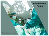 Free Medical Operation Team PowerPoint Template Background, FreeTemplatesTheme