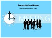 Free Meeting Timing PowerPoint Template Background, FreeTemplatesTheme