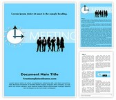 Free Meeting Timing Word Template Background, FreeTemplatesTheme