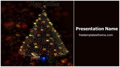 free merry christmas powerpoint template. Black Bedroom Furniture Sets. Home Design Ideas