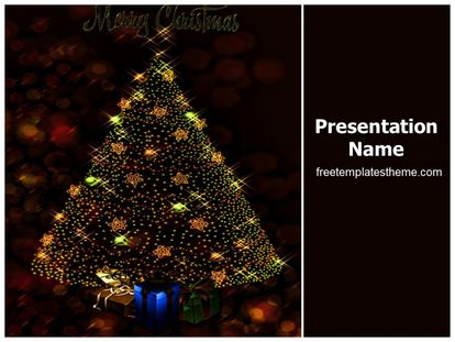 free merry christmas powerpoint template | freetemplatestheme, Powerpoint templates