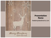 Free Merry Christmas New Year PowerPoint Template Background, FreeTemplatesTheme