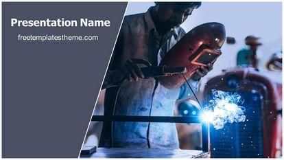 Metal Welding Free PPT Template Widescreen, FreeTemplatesTheme