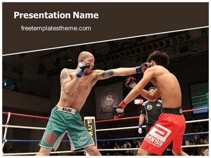 Free mixed martial arts powerpoint template freetemplatestheme slide1g toneelgroepblik Images
