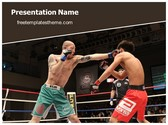 Free Mixed Martial Arts PowerPoint Template Background, FreeTemplatesTheme