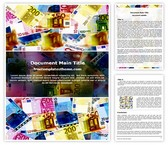 Free Money Background Word Template Background, FreeTemplatesTheme