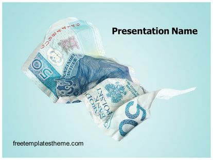 free money crisis powerpoint template