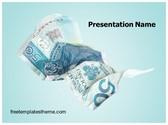 Free Money Crisis PowerPoint Template Background, FreeTemplatesTheme