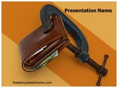 Free Money Deflation PowerPoint Template Background, FreeTemplatesTheme