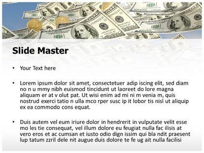 free money rain powerpoint template