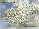 Free Money Rain PowerPoint Template Background, FreeTemplatesTheme
