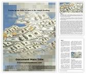 Free Money Rain Word Template Background, FreeTemplatesTheme