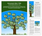 Free Money Tree Word Template Background, FreeTemplatesTheme