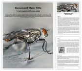 Free Mosquito Fly Word Template Background, FreeTemplatesTheme