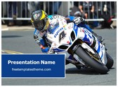 Free Motogp Motorbike PowerPoint Template Background, FreeTemplatesTheme