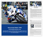 Free Motogp Motorbike Word Template Background, FreeTemplatesTheme