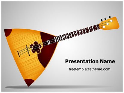 free music balalaika powerpoint template   freetemplatestheme, Powerpoint templates