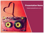 Free Music Cassette PowerPoint Template Background, FreeTemplatesTheme