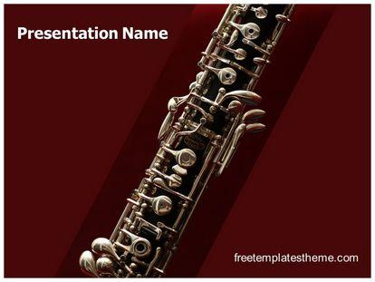 Free music oboe powerpoint template freetemplatestheme slide1g toneelgroepblik Image collections