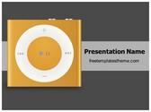 Free Music Player PowerPoint Template Background, FreeTemplatesTheme