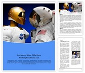 Free NASA Robonaut Word Template Background, FreeTemplatesTheme
