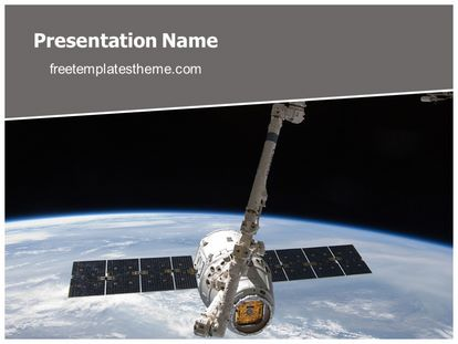free nasa satellite powerpoint template | freetemplatestheme, Presentation templates