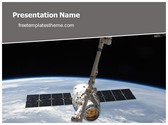 Free NASA Satellite PowerPoint Template Background, FreeTemplatesTheme