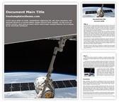 Free NASA Satellite Word Template Background, FreeTemplatesTheme