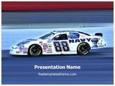 Free Nascar Racing PowerPoint Template Background, FreeTemplatesTheme