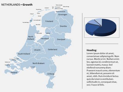 Free Netherlands PowerPoint Map freetemplatesthemecom