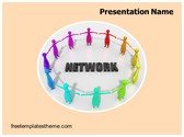 Free Networks PowerPoint Template Background, FreeTemplatesTheme