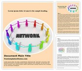 Free Networks Word Template Background, FreeTemplatesTheme