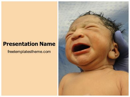 Free New Born Baby Powerpoint Template Freetemplatestheme Com