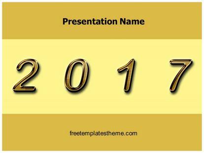 Free New Year 2017 Powerpoint Template Freetemplatestheme Com