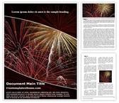 Free New Year Celebration Word Template Background, FreeTemplatesTheme