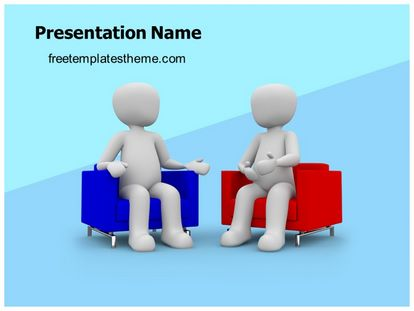 free news interview powerpoint template. Black Bedroom Furniture Sets. Home Design Ideas