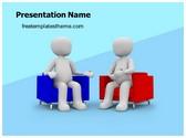 Free News Interview PowerPoint Template Background, FreeTemplatesTheme