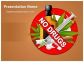 Free No Drugs PowerPoint Template Background, FreeTemplatesTheme