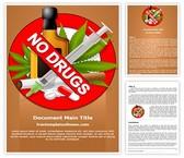 Free No Drugs Word Template Background, FreeTemplatesTheme
