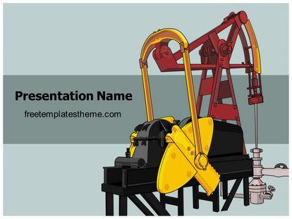 Free oil pump powerpoint template freetemplatestheme slide1g toneelgroepblik Images