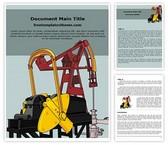 Free Oil Pump Word Template Background, FreeTemplatesTheme