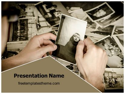 free old memories powerpoint template. Black Bedroom Furniture Sets. Home Design Ideas