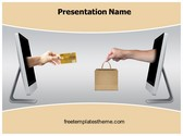 Free Online Shopping PowerPoint Template Background, FreeTemplatesTheme