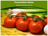 Free Pasta Tomato PowerPoint Template Background, FreeTemplatesTheme