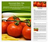 Free Pasta Tomato Word Template Background, FreeTemplatesTheme