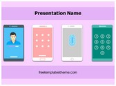 Free Phone Screen Lock PowerPoint Template Background, FreeTemplatesTheme