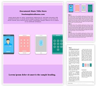Phone Screen Lock Free Word Template, freetemplatestheme.com