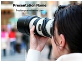 Free Photographer PowerPoint Template Background, FreeTemplatesTheme