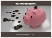 Free Piggy Bank PowerPoint Template Background, FreeTemplatesTheme